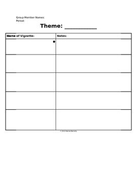 Vignette Themes Notes For House On Mango Street The House On Mango Street Teacher Lesson Plans Teaching Advice