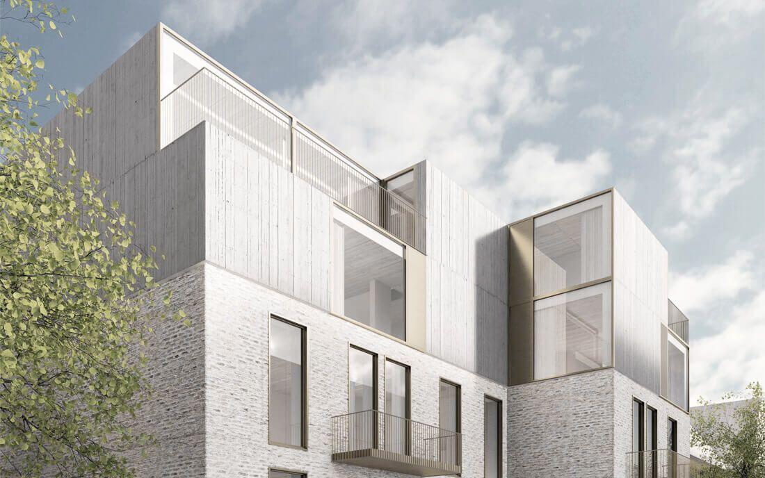 Architekturvisualisierung Berlin dachaufstockung berlin jwa architektur visualisierung roof top up