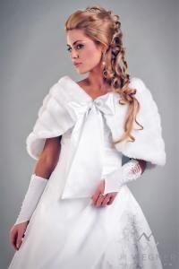 Kup teraz na allegro.pl za 56,00 zł - Peleryna Ślubna BC2245 z norki. szal,etola,suknia (5017806000). Allegro.pl - Radość zakupów i 100% bezpieczeństwa dla każdej transakcji!