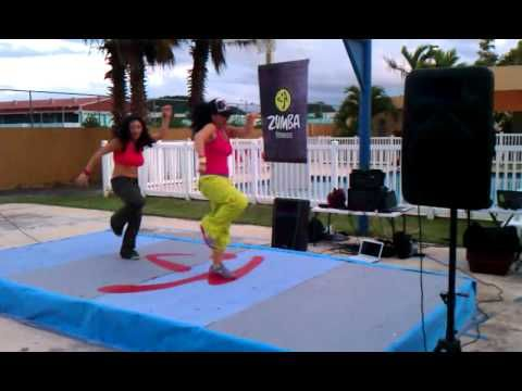 """Zumba """"Sexy Movimiento"""" --- kind of the worst video quality ever, but good enough to help me remember the choreo :)"""