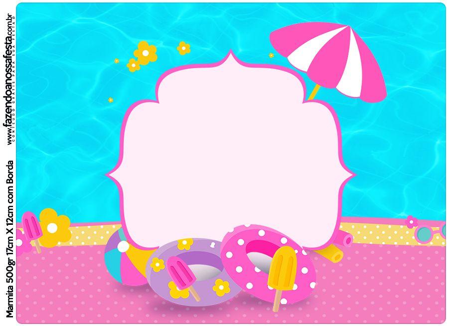 Marmita 500g Pool Party Menina | Rahmen | Pinterest | Rahmen