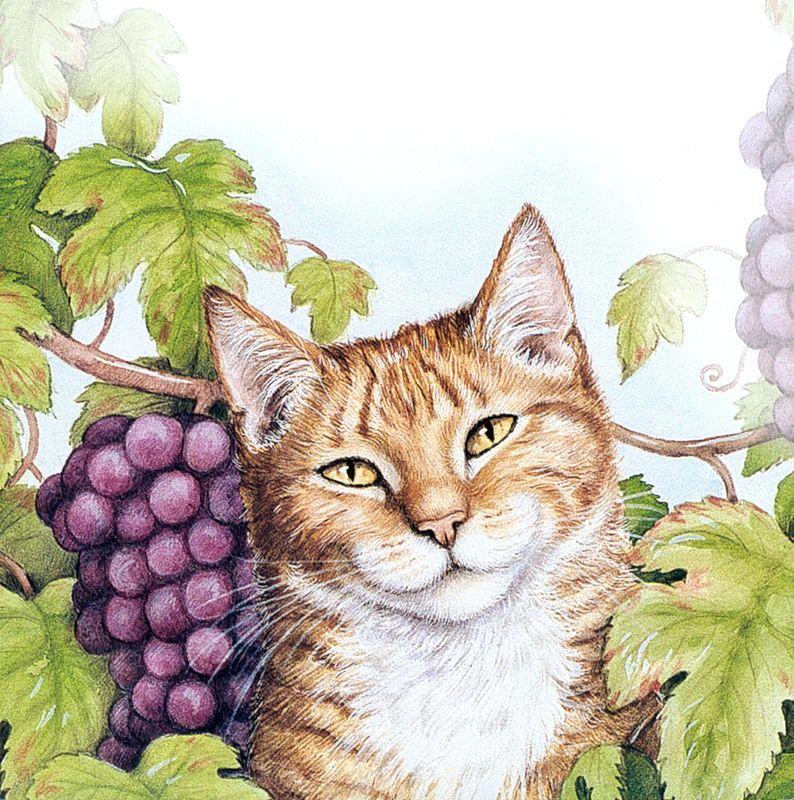 Открытка, картинки с рисованными кошками