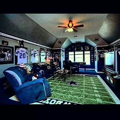 Dallas cowboys man cave dallas cowboy fan pinterest for Dallas cowboy bedroom ideas