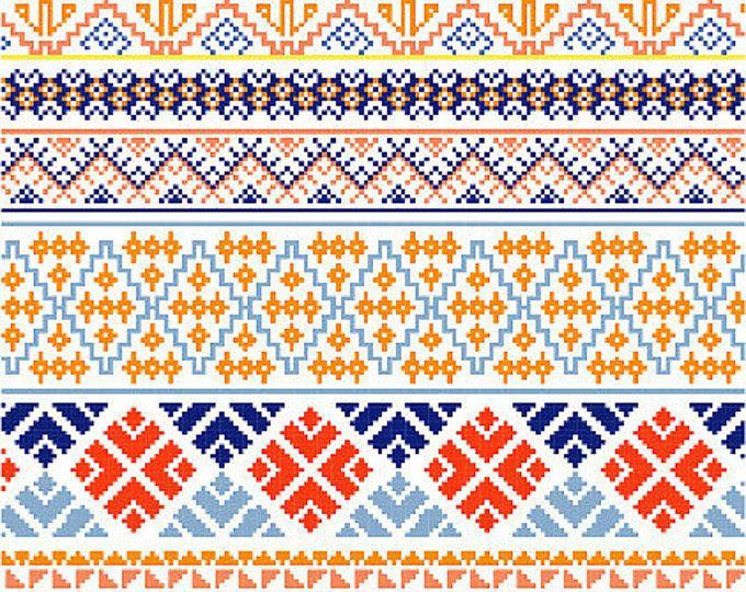 These Cross Stitch Borders Were Inspired By Traditional Mexican