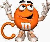 Alfabeto divertidas M and Ms.