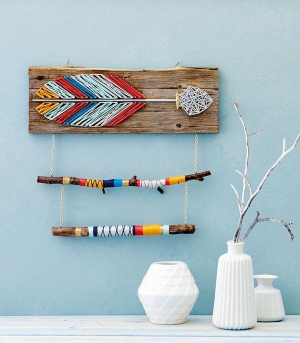 anleitung string art pfeil mit umwickelten sten foto. Black Bedroom Furniture Sets. Home Design Ideas