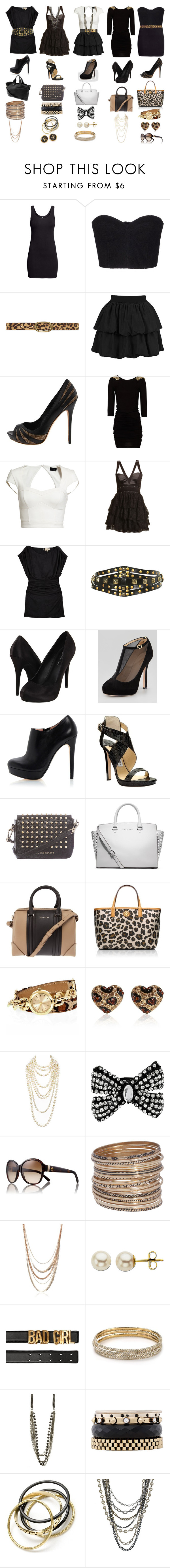 """Geen titel #705"" by herrroool ❤ liked on Polyvore featuring H&M, Au Jour Le Jour, Dorothy Perkins, Forever 21, Alexander McQueen, MANGO, Bardot, Boohoo, Elizabeth and James and Michael Antonio"