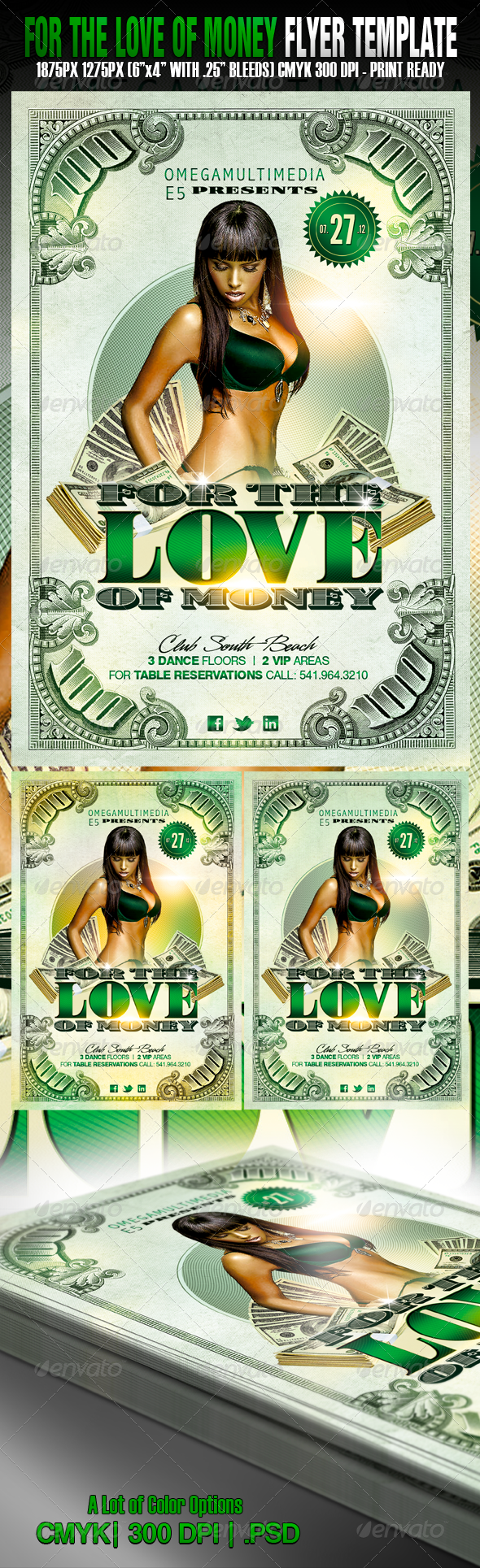 For The Love Of Money Club Parties Flyer Template And Template - Money flyer template