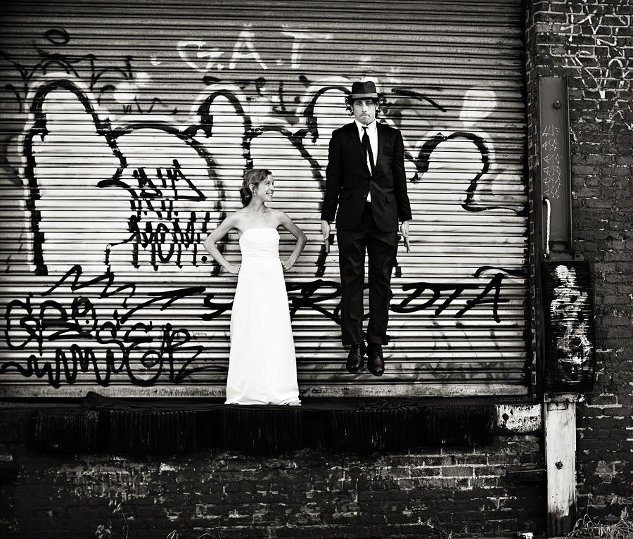 Graffiti wedding shot