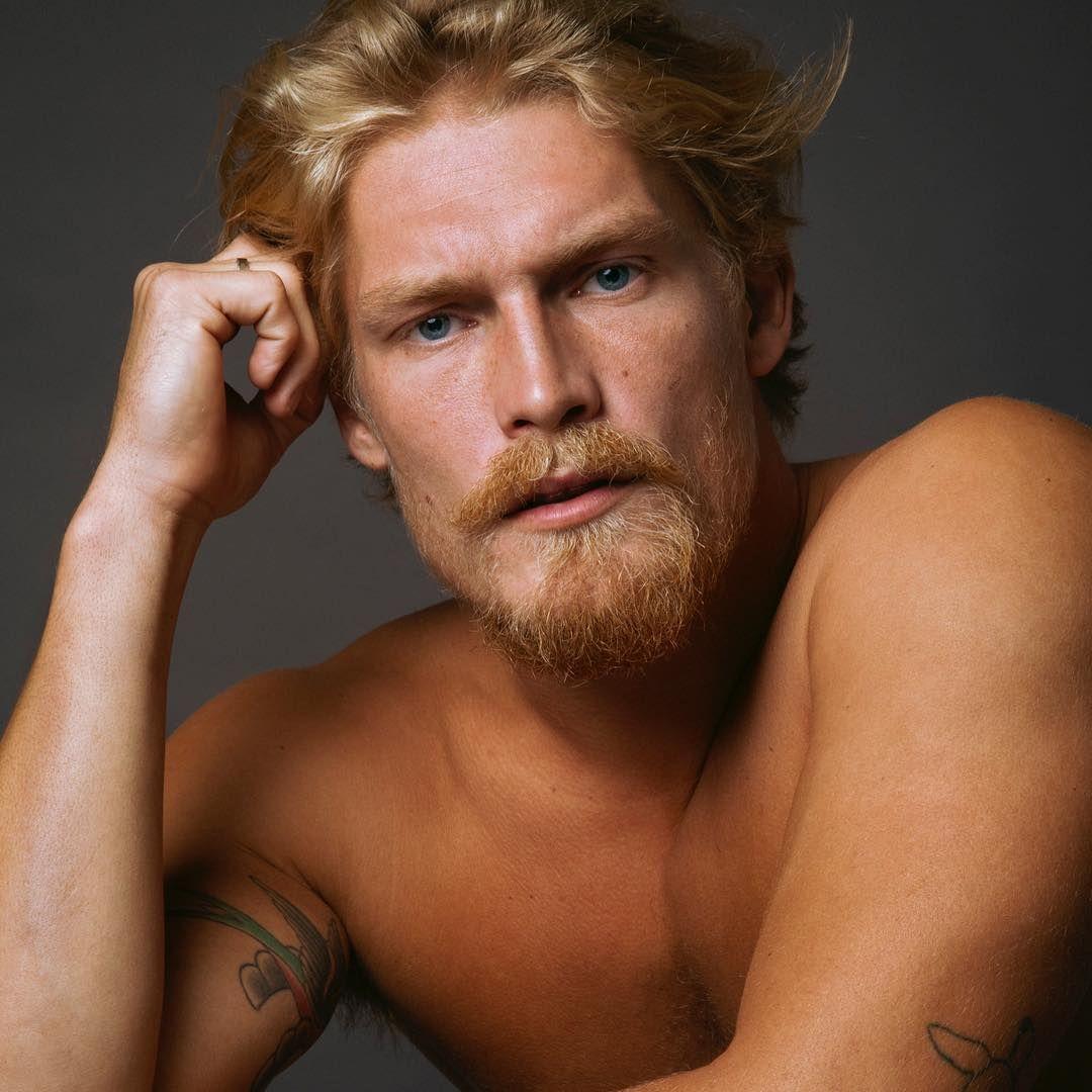 Harry Goodwins Men Golden Hair Male Face