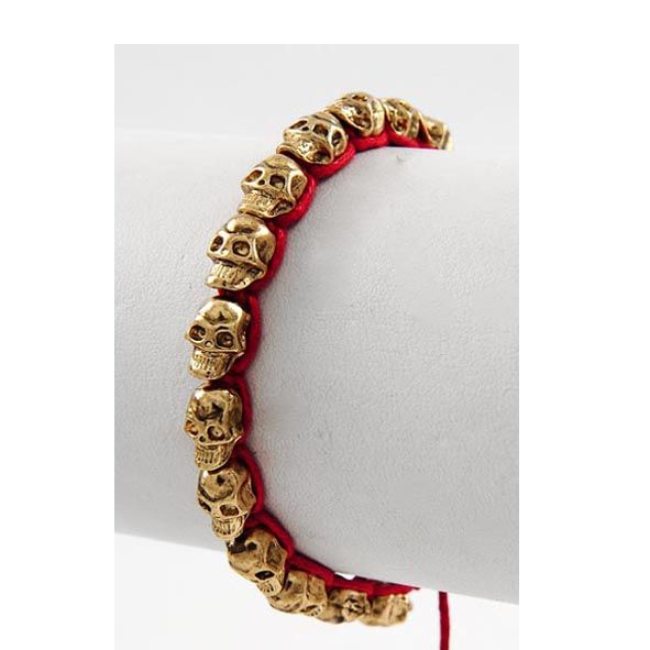 C MINI SKULL BRACELET IN RED & GOLD €35