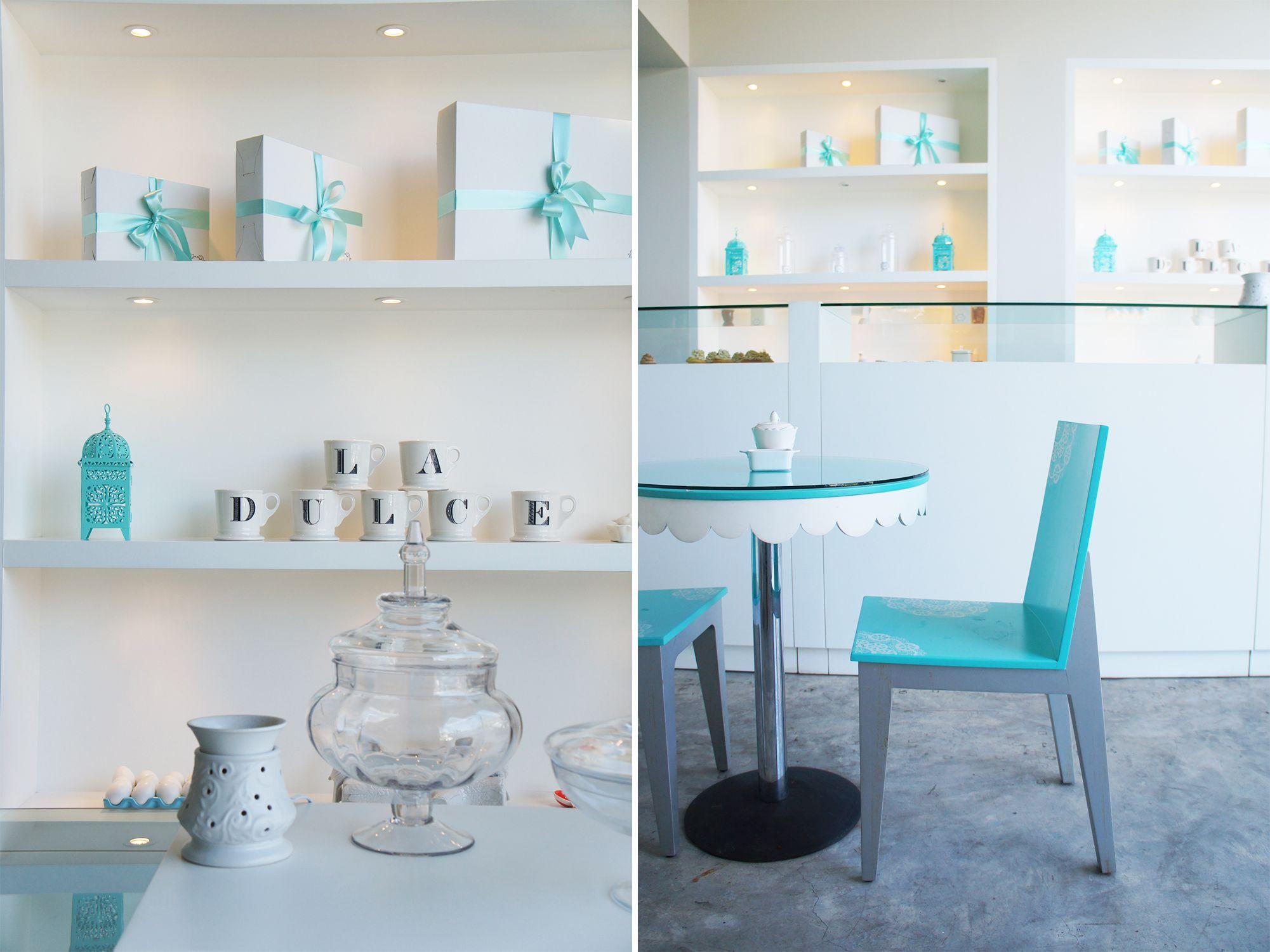 Pasteler A La Dulce Muebles De Madera Laqueados Color Turquesa Y  # Muebles Turquesa