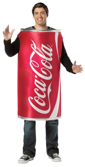Rasta Imposta Coca-Cola Can, Red, One Size Best Gorgeous Costumes - food halloween costume ideas