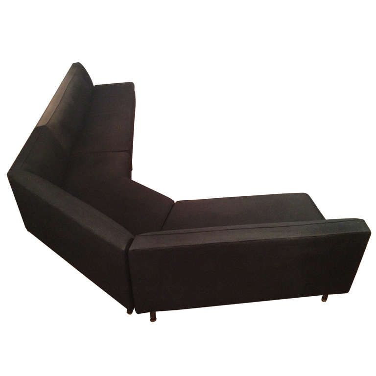 Harvey Probber Angled Sectional Sofa Sofa Banquettes