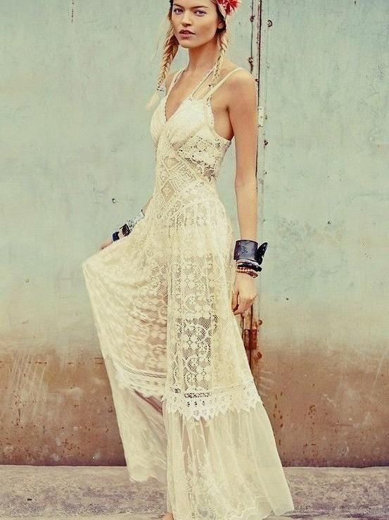 8f740a1c25 bohemian lace maxi dress Naf Dresses