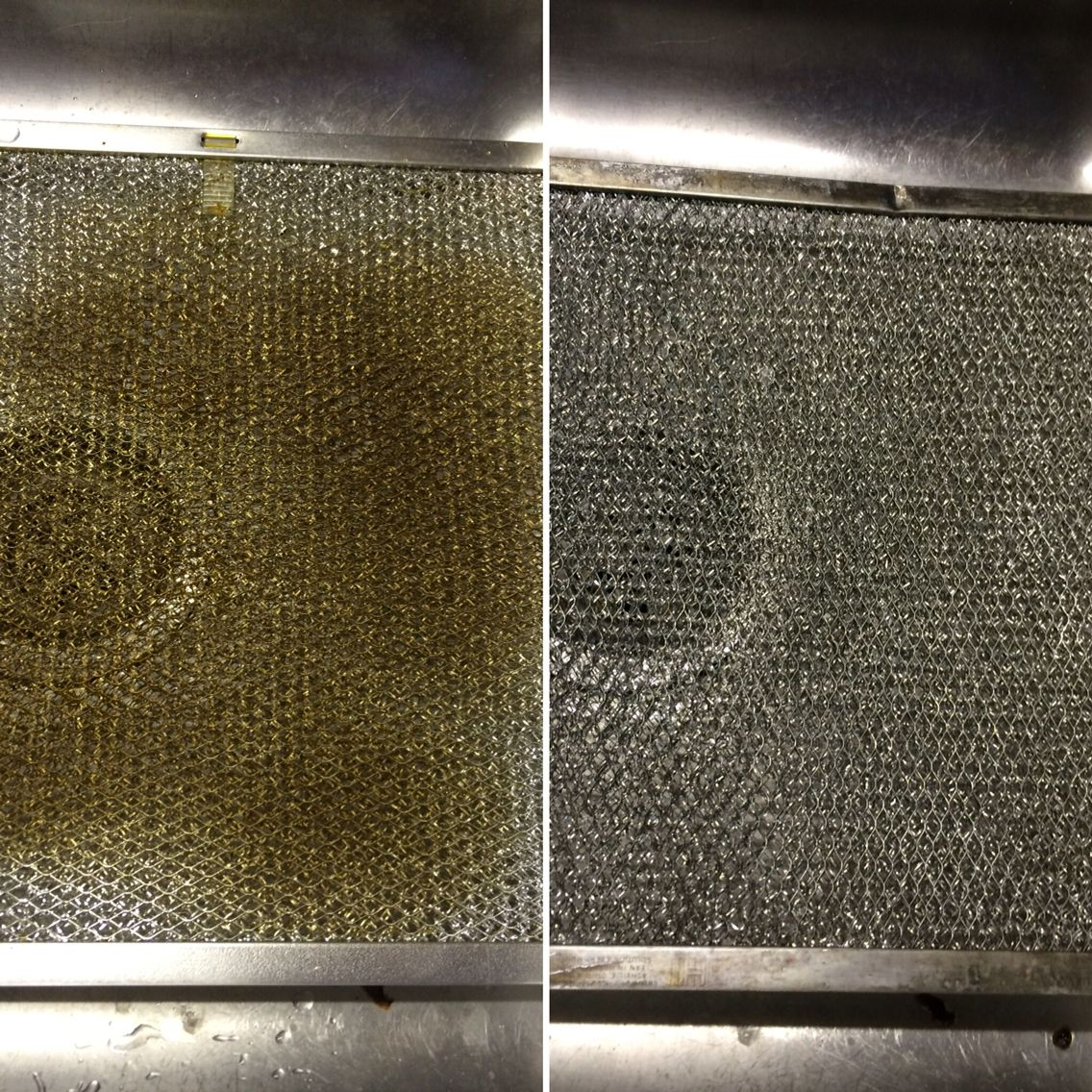 Cleaning Range Hood My Range Hood Vent Before And After Boiling Water And The Norwex