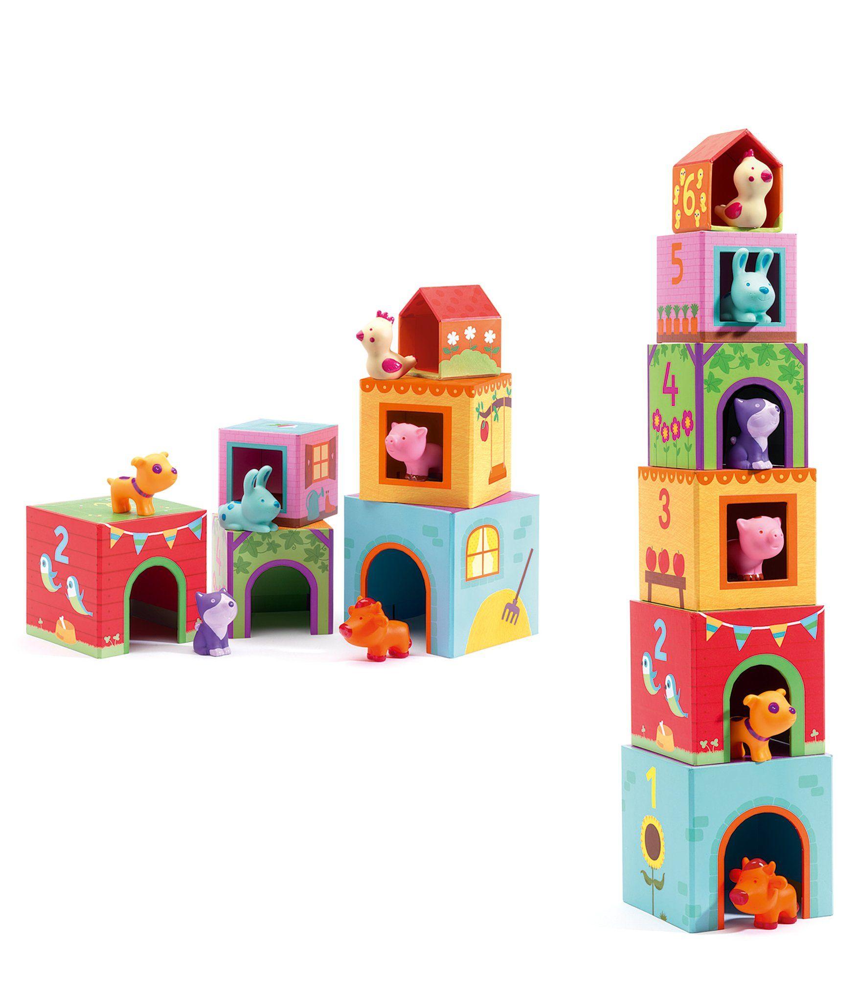 Djeco topanifarm stacking blocks dillards in 2020 toy
