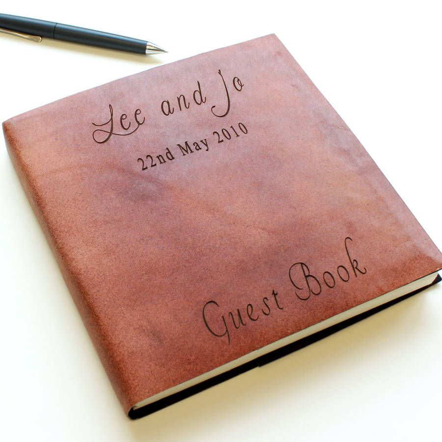 original_personalised-leather-guest-book.jpg (900×900) | Wedding ...