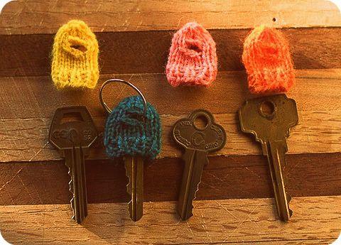 key cozies.   Knitting, Diy knitting, Knitting patterns