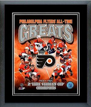 Philadelphia Flyers All Time Greats Framed With double black matting Ready To Hang- Awesome & Beautiful