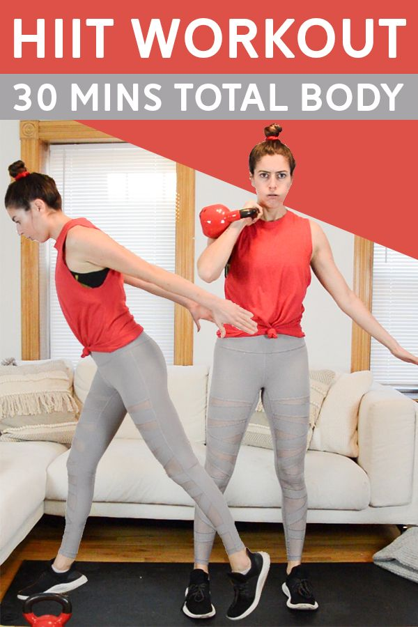 30 Min HIIT Workout with Weights (Total Body) - This 30 min hiit workout is broken up into three cir...