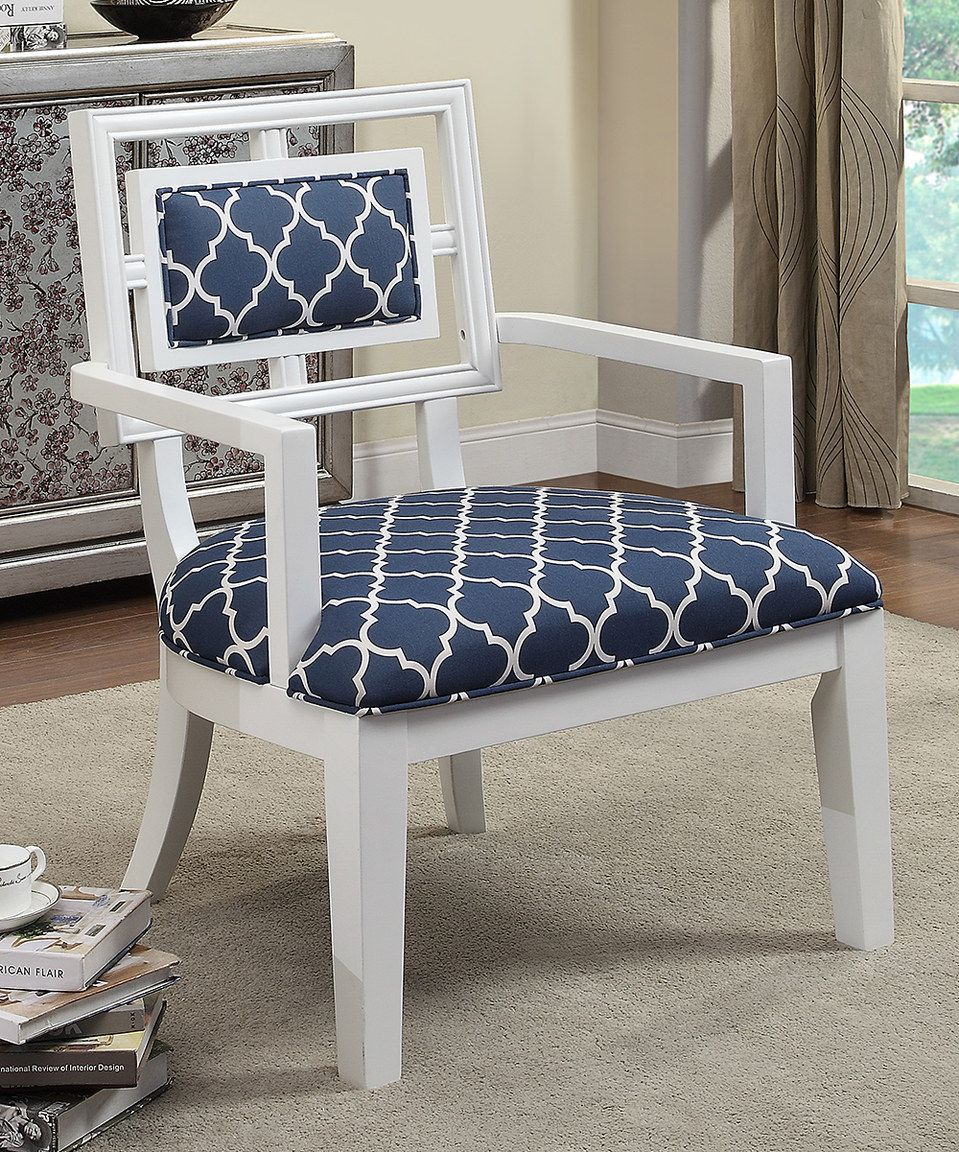 Love This Navy White Geometric Accent Chair By Coast To Coast On Zulily Zulilyfinds New House Ideas