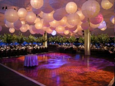 Editor's Friday Favourite : lanternes en papier pour une décoration de salle de mariage sympa