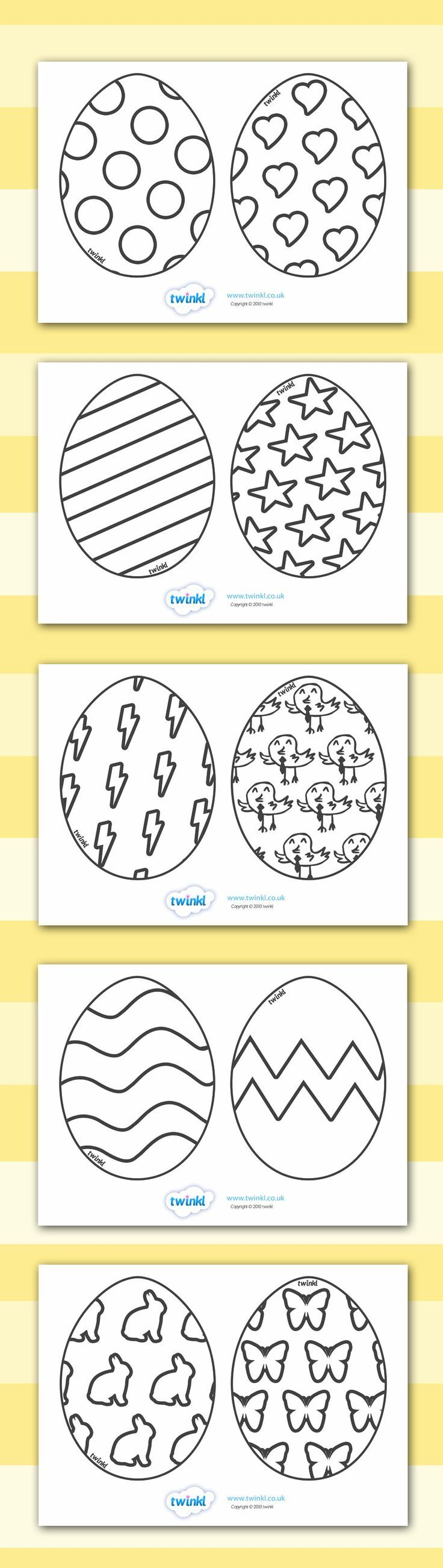 Twinkl Resources >> Easter Egg Templates >> Printable resources for ...