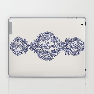 The Ups and Downs of Navy Doodles Laptop & iPad Skin by micklyn - $25.00