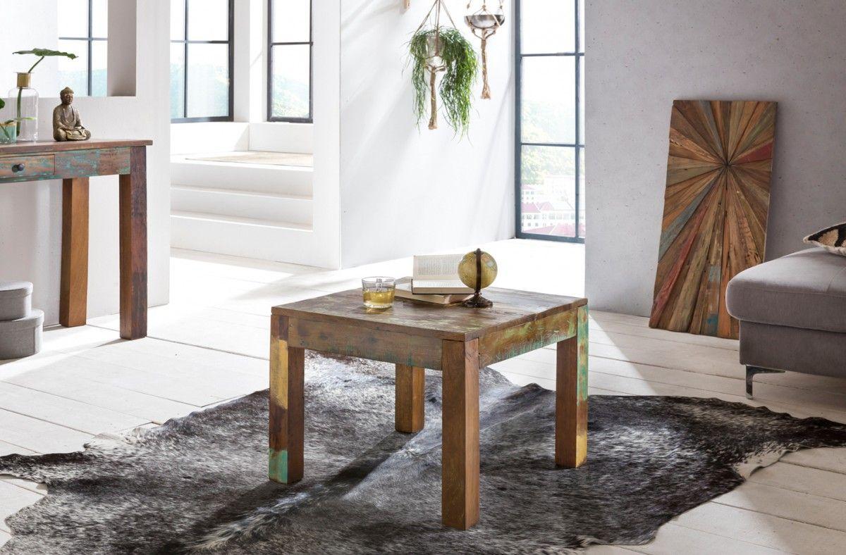 Wundervoll Couchtisch Holz Rustikal Galerie Von Wohnling Delhi Wl5.068 60 Cm Aus Recyceltem