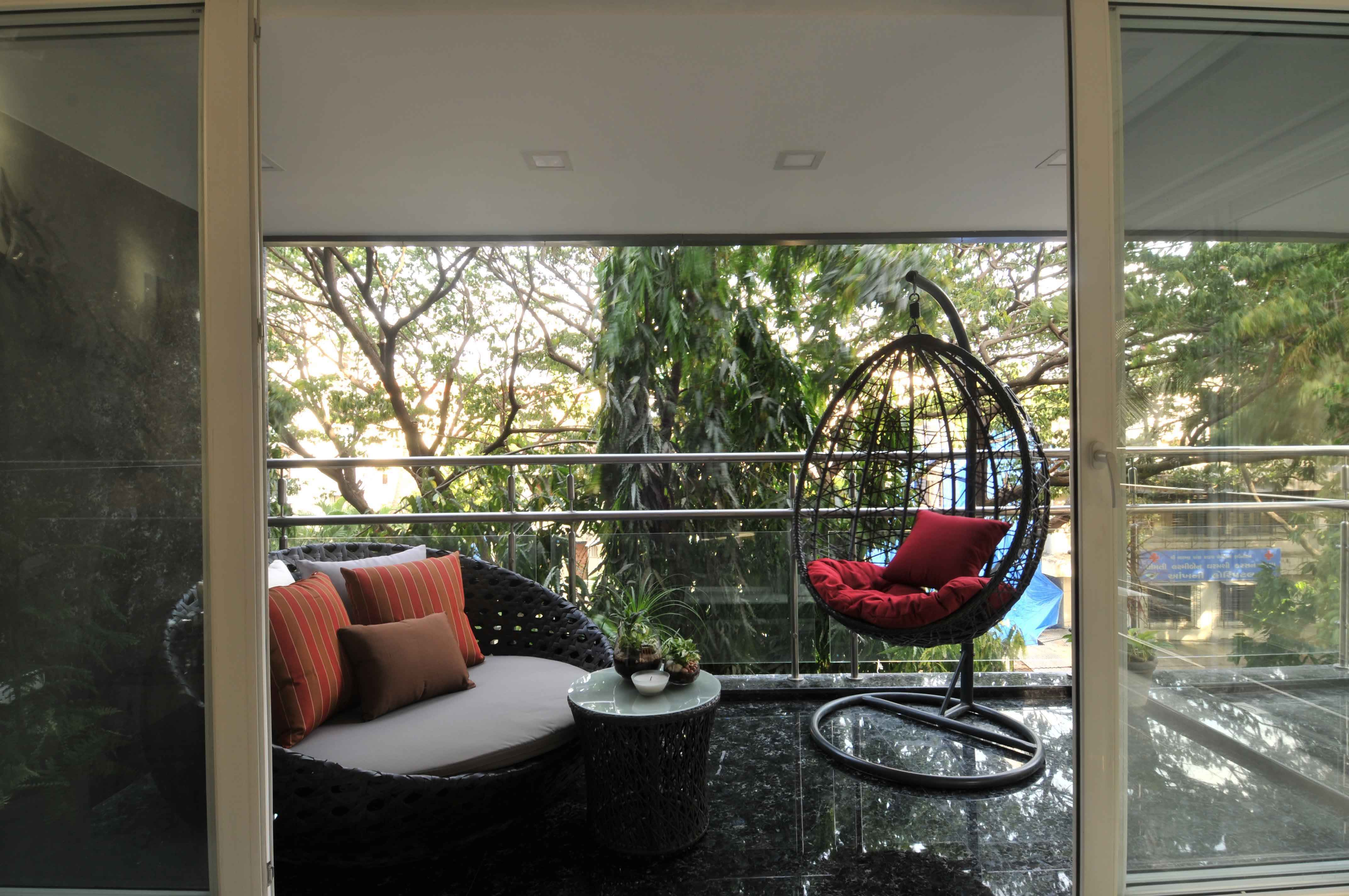 Balcony With Ample Seating Space Design By Sonali Shah