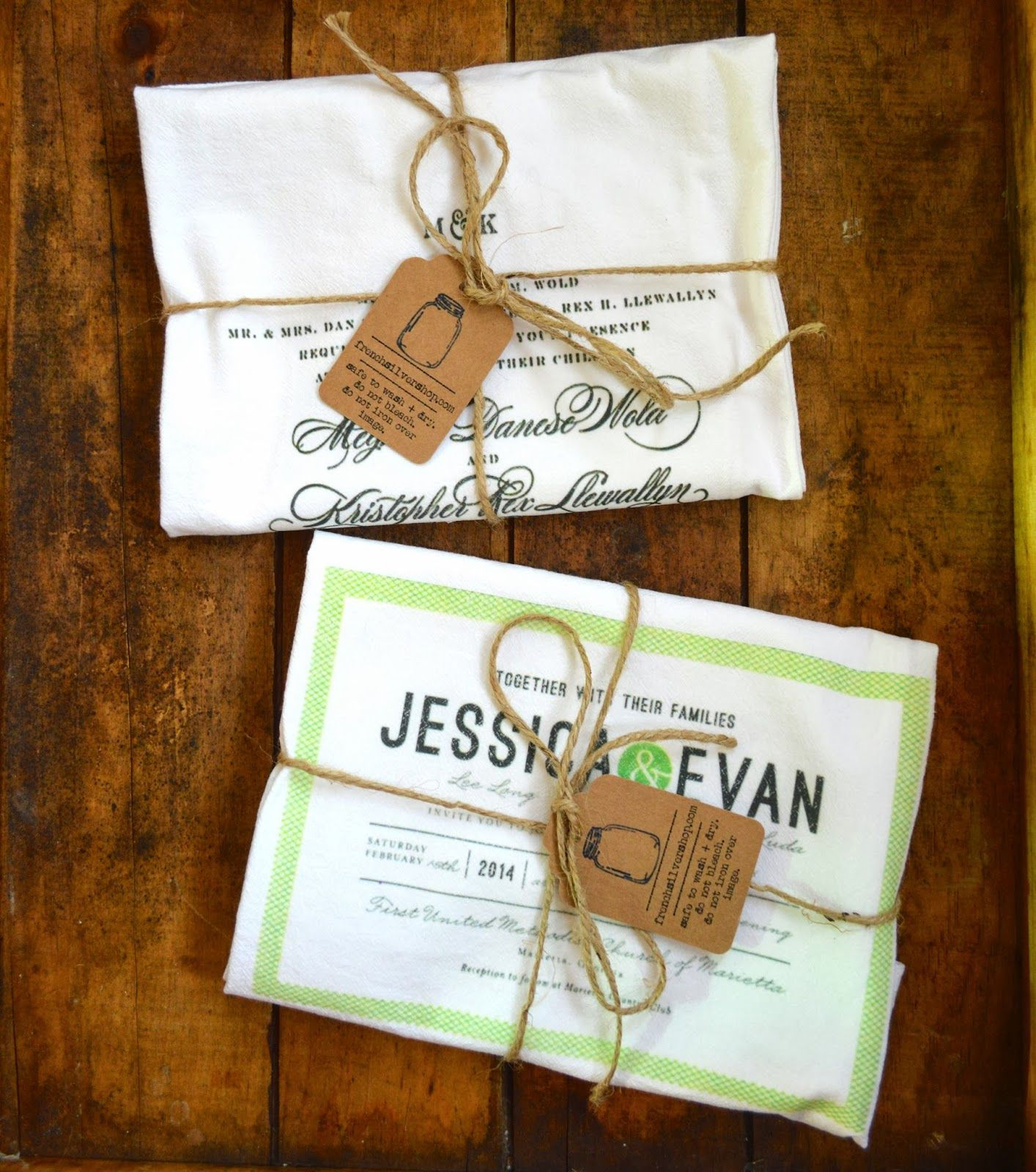 Great Inexpensive Wedding Gifts: 2nd Wedding Anniversary Gift. 100% Cotton. Give A Tea