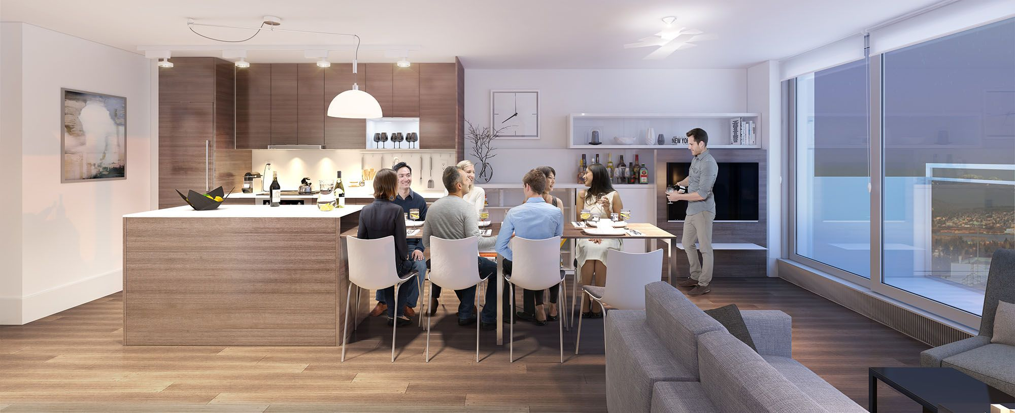small apartment design and its dining room and open space kitchen - Open Apartment Design