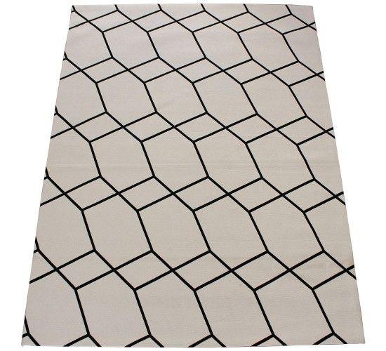 5d42b2a50b Tapete Kilim Neo Concreto Branco Preto 2