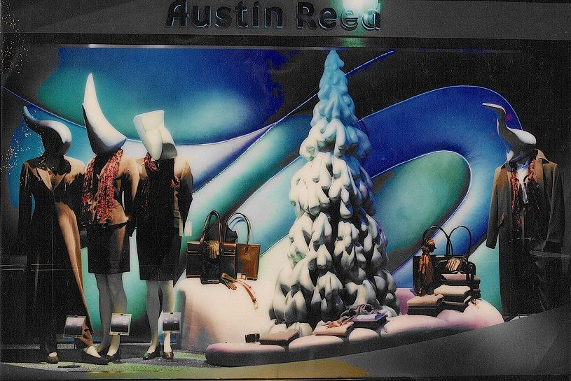 Austin Reed Christmas Window Display By Elemental Design Christmas Window Display Christmas Window Cloud Phone