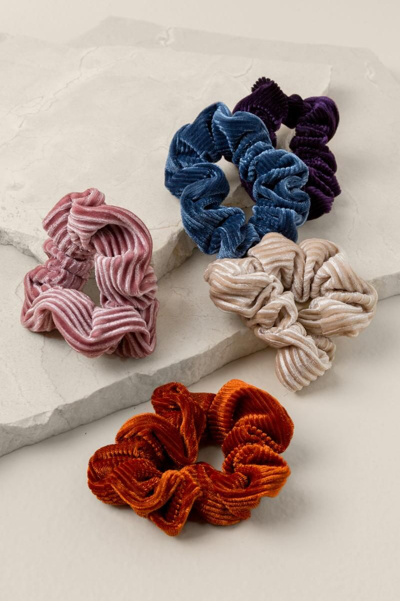 Ginger Velvet Scrunchie Set  6a9ce3e5841