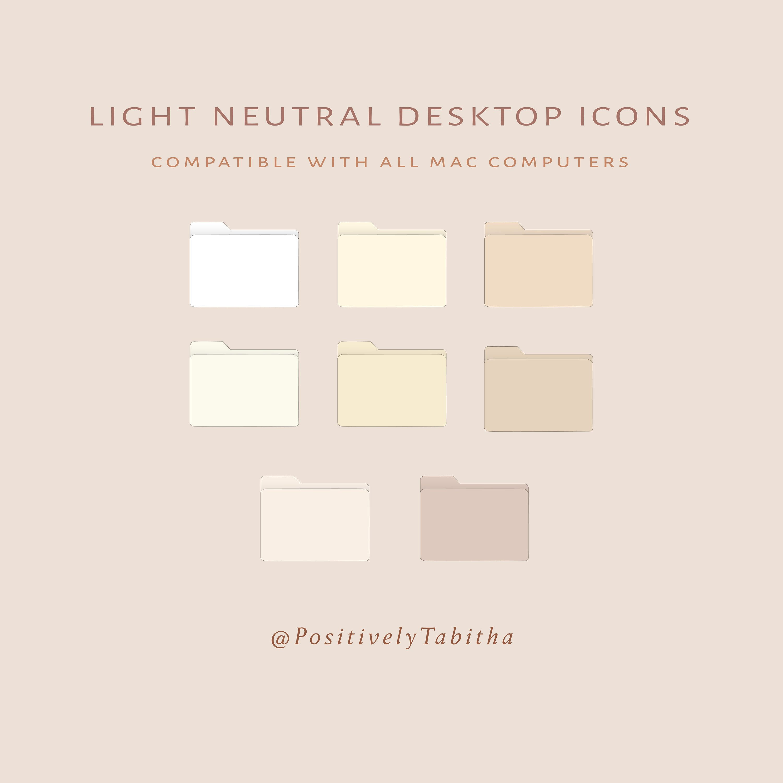 Light Neutral Desktop Icons Instant Download Desktop Mac Etsy In 2021 Desktop Icons Mac Wallpaper Desktop Desktop Wallpaper Organizer