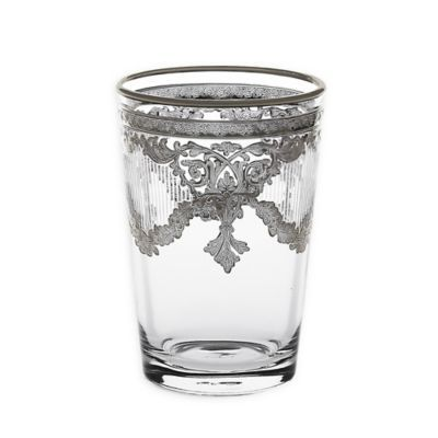 Classic Touch Vivid Plus Tumblers Set Of 6 Silver Tumbler Classic Glass