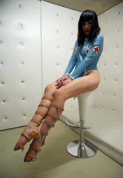 Commit error. Girl in medical bondage very pity
