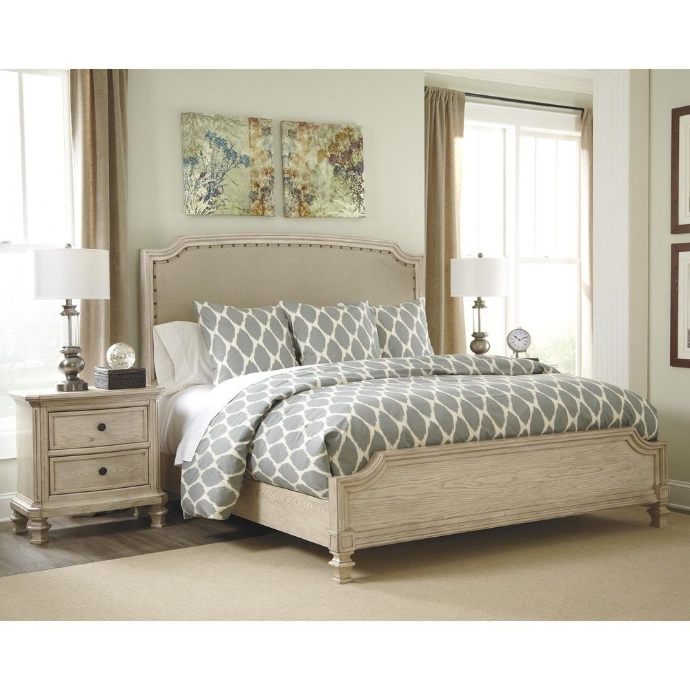 Ashley Demarlos Arched Top Panel Bed (Queen Panel Bed With Arched Top),  White