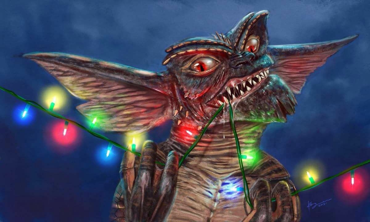 Gremlins Christmas.Gremlins Christmas Cool Fan Art Christmas Lights Found On