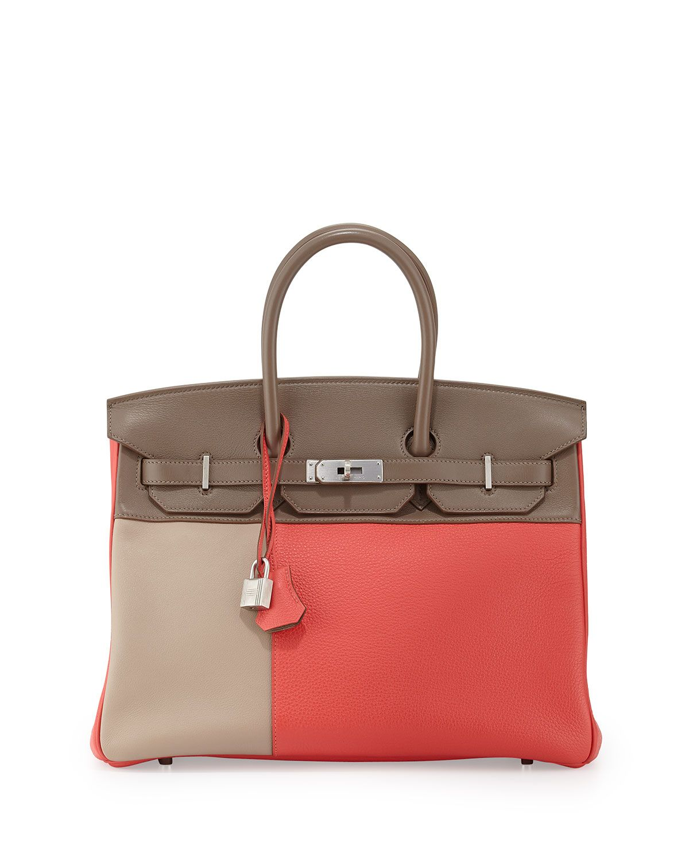 Heritage Auctions at Neiman Marcus  Hermès 35cm Limited Edition Cascade Birkin Bag, Rose Jaipur/Etain/Gris