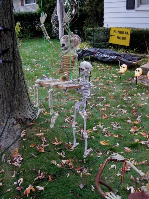 little one being push on swing Halloween Cemetary Pinterest