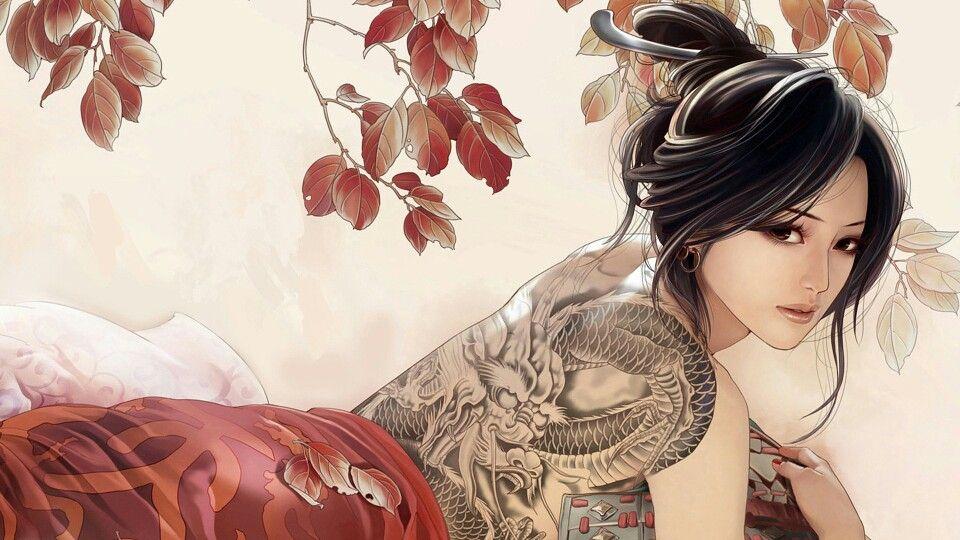 Yakuza The Girl With The Dragon Tattoo Art Girl Dragon Tattoo