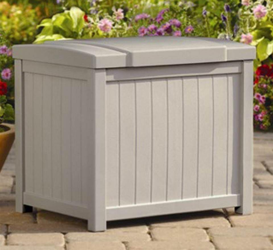Suncast Patio Garden Outdoor Storage Box 22gallon Resin Heavy