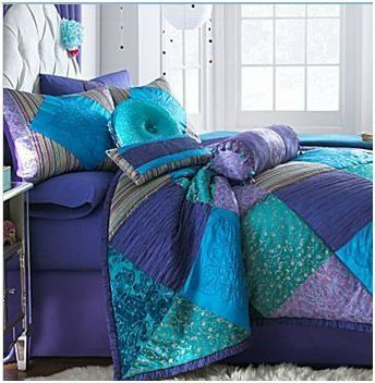 Blue And Purple Bohemian Bedroom Queen Purple Bohemian Velvet Blue Aqua Pink Lavender Comforter Shams Comforter Sets Peacock Bedroom Peacock Bedding