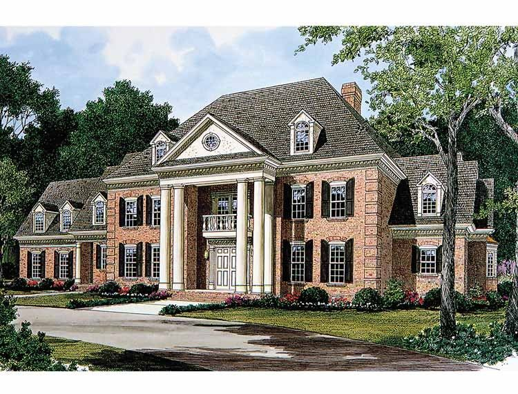 Neoclassical House Plan With 5717 Square Feet And 5 Bedrooms S From Dream Home Source House Plan Colonial House Plans Southern House Plans Georgian Mansion