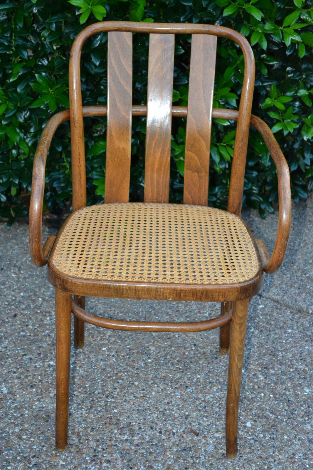 Antique cane chair styles - Antique Vintage Thonet Style Bentwood Cane Chair Original Cane Seat Poland Ebay