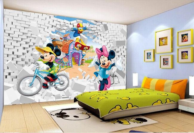 papier peint 3d personnalis d coration murale chambre d 39 enfant design pinterest. Black Bedroom Furniture Sets. Home Design Ideas