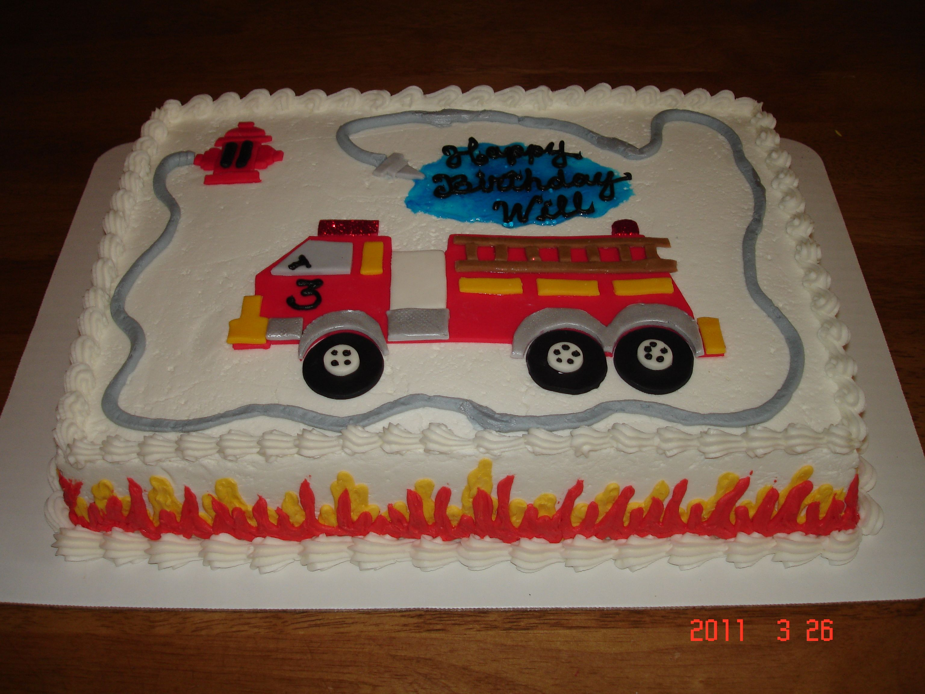 Fire Truck Cake With Images Firetruck Cake Firetruck Birthday